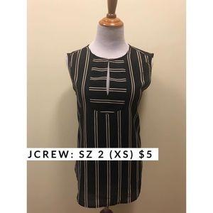 J.crew sleeveless navy blouse shirt Sz XS